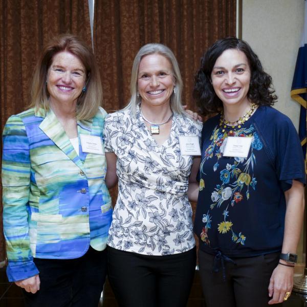 Teaching & Pedagogy Award recipients, Jennifer Knight, and Teresa Foley