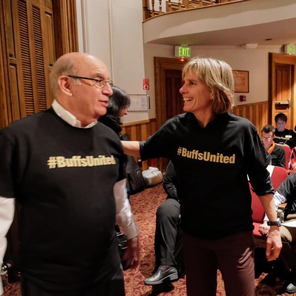 Chancellor DiStefano and Boulder Mayor Suzanne Jones