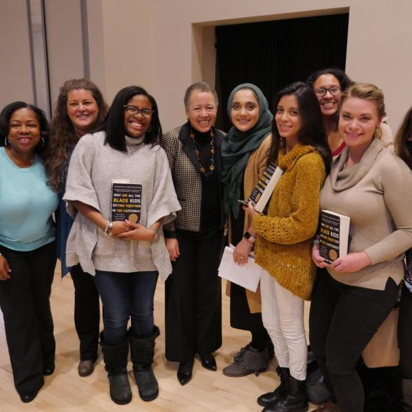 Beverly Tatum poses with fans during the Diversity and Inclusion Summit. Photo by Casey A. Cass.