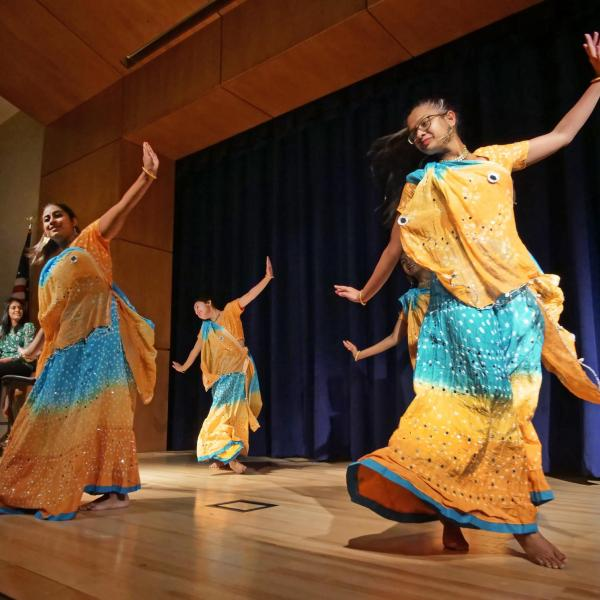 Dancers perform during the CU Live! Student Performances session at the Diversity and Inclusion Summit. Photo by Casey A. Cass.