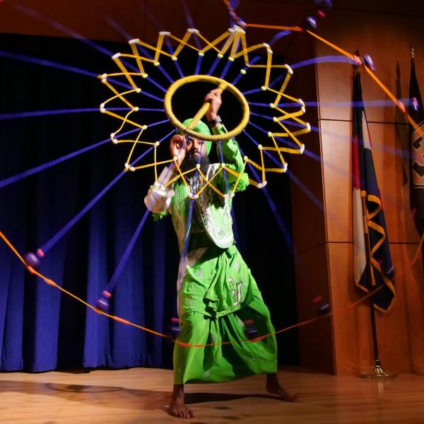 A dancer performs during the CU Live! Student Performances session at the Diversity and Inclusion Summit. Photo by Casey A. Cass.