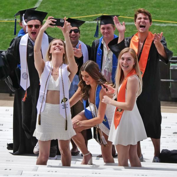 The 2021 Graduation Appreciation Days photo-ops in and around Folsom Field at CU Boulder. (Photo by Casey A. Cass/University of Colorado)