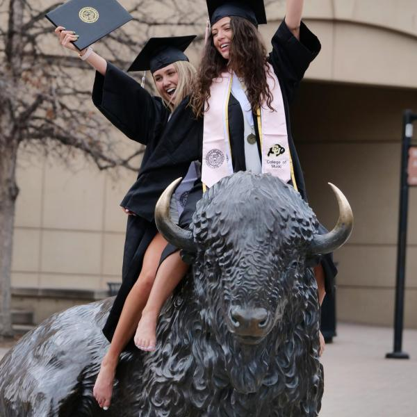 2021 Graduation Appreciation Days photo-ops in and around Folsom Field at CU Boulder. (Photo by Casey A. Cass/University of Colorado)
