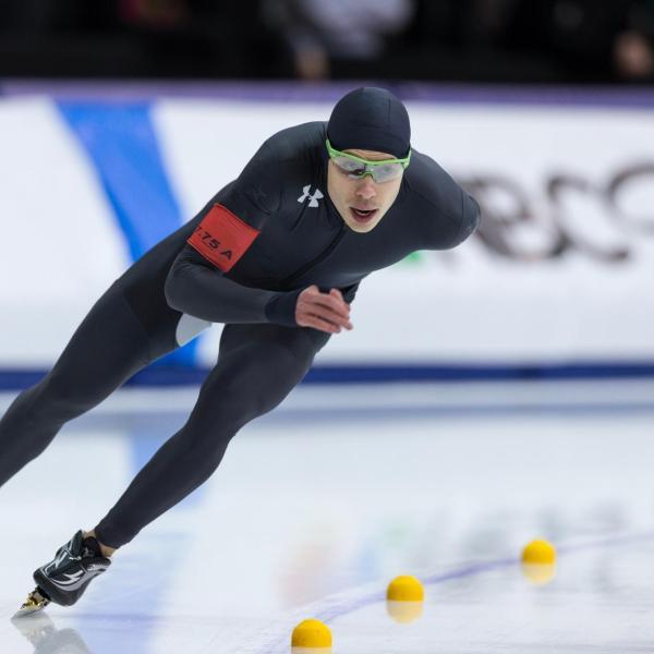 U.S. speed skater Brian Hansen