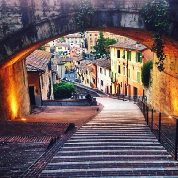Stairway to Heaven in Perugia, Italy (Photo by Kelsey Chabolla)