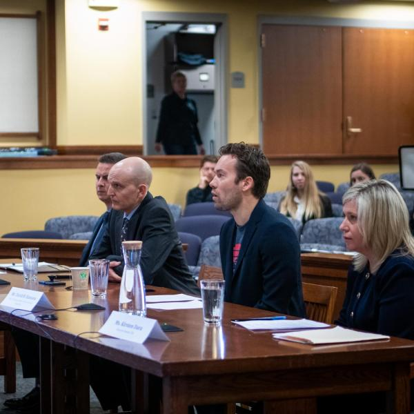 The University of Colorado Law School hosts a field hearing of the House Judiciary Subcommittee on Antitrust, Commercial and Administrative Law on Friday, Jan. 17, 2020. (Photo by Patrick Campbell/University of Colorado)