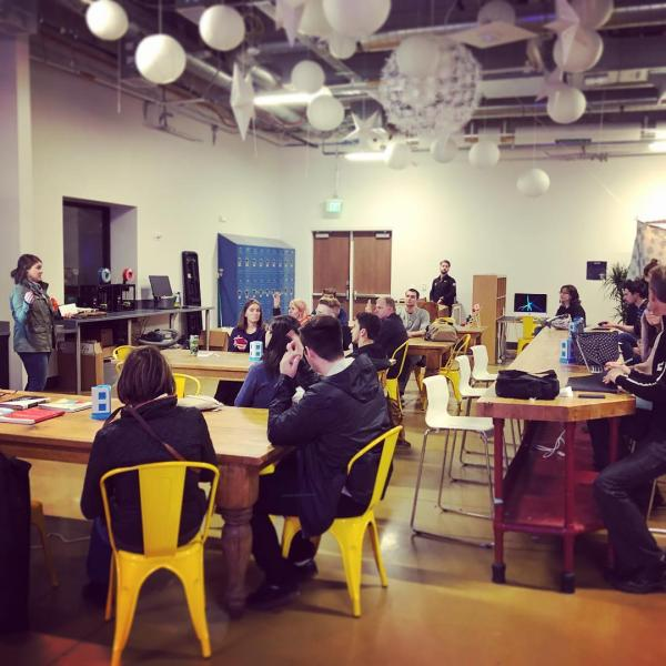 Exciting workshops happening in the campus startup hub. Instagram photo by @innovatecubldr.