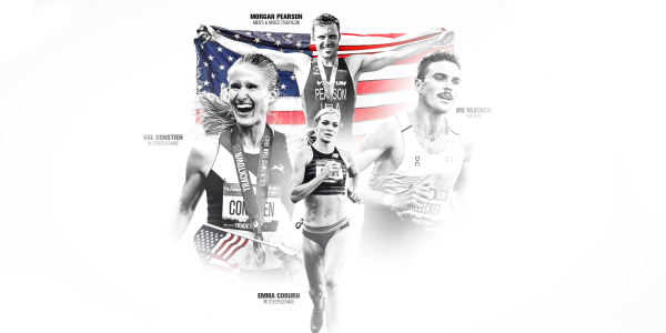 A collage of CU Boulder alumni competing in the Olympics