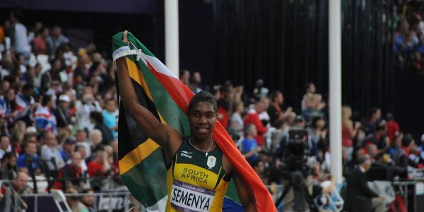 Caster Semenya at the 2012 London Olympics