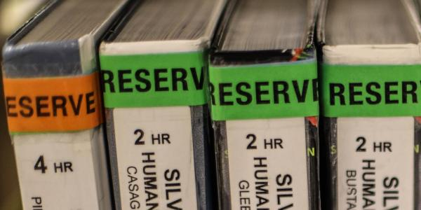 Reserved books at University Libraries