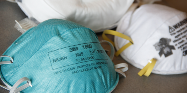 Photo of N95 masks (stock image courtesy of CDC)