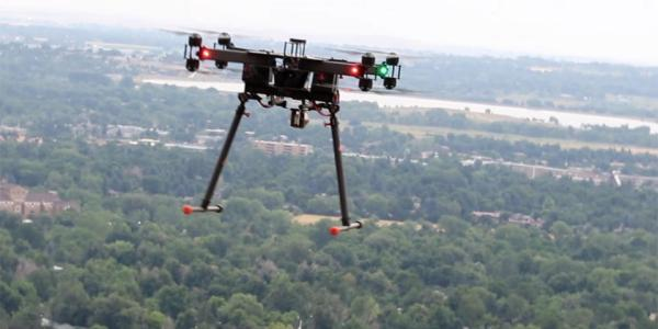"""NIST has combined a laser instrument that """"combs"""" the air with a flying multi-copter to scan and map atmospheric gases over kilometer distances."""