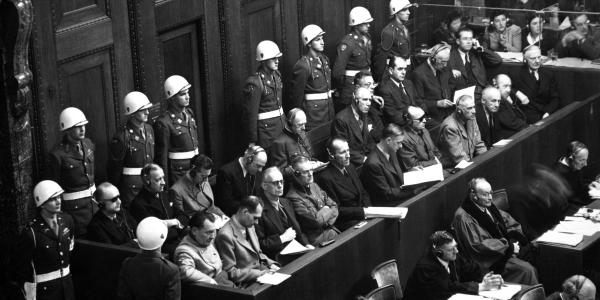 Nuremberg trials photo from National Archives 1945-46