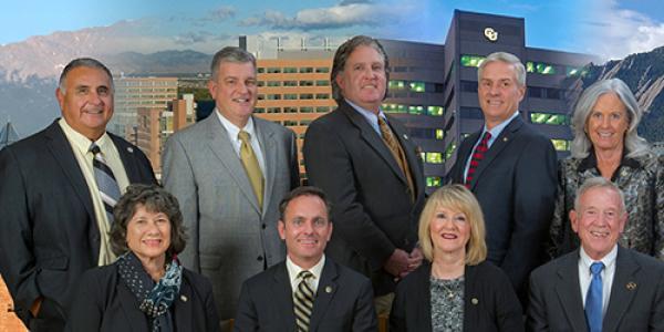 Group photo of CU Board of Regents