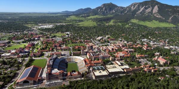 Aerial of CU Boulder Campus