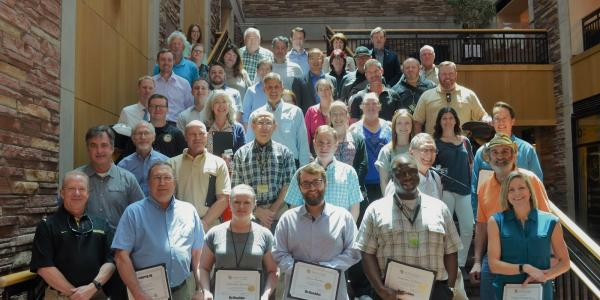 Mentor-mentee teams participating in the Infrastructure and Sustainability Mentorship Program were recognized at a May 21 ceremony marking completion of the program.