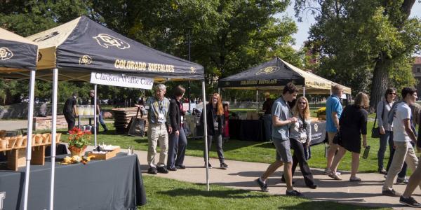 campus community members at tailgate
