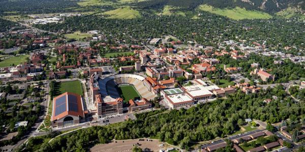 2018 aerial shot of campus.