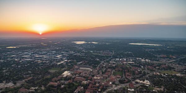 Sun rises over the horizon in Boulder