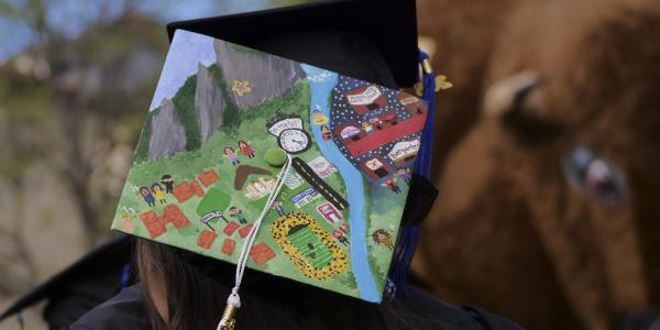 Painted graduation cap