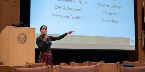 Violeta Chapin speaks at the 2018 Diversity and Inclusion Summit