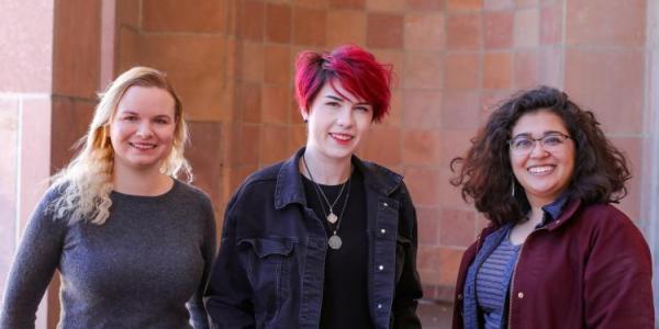 2018 Data Visualization Contest finalists Julia Uhr, McKenzie Mae Weller and Elysia Salvo Lucas