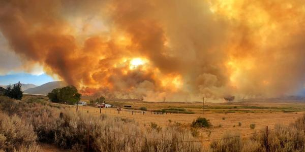 The Slink Fire burning east of Modesto, California, in September 2020. (Photo: U.S. Forest Service)