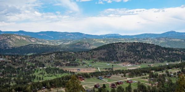 Overlooking the town of Bailey, Colorado (Photo by Patrick Campbell/University of Colorado)