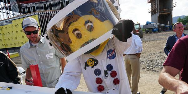 Chip in spacesuit