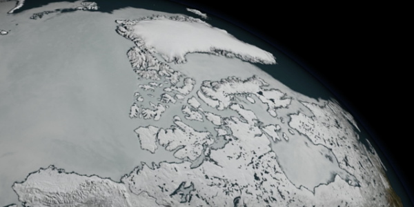 an illustration of arctic sea ice cover