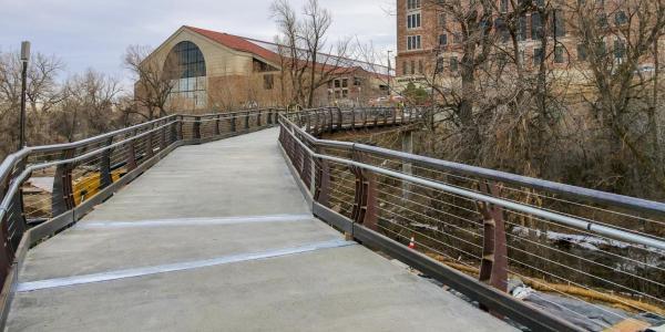 The new Main Campus pedestrian bridge