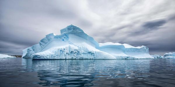 a glacier in Antarctica
