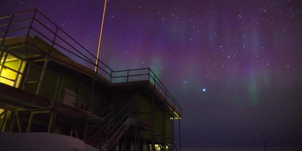 Xinzhao Chu's lidar facility in Antarctica (photo provided)