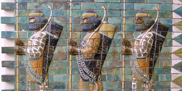 Glazed brick wall featuring Achaemenid archers