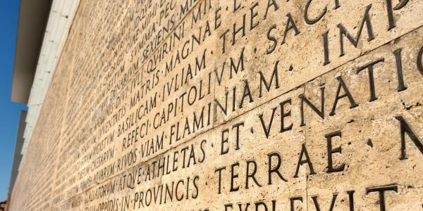 A funerary inscription from Ara Pacis, wanted by Augustus to recall who his life and accomplishments. (Photo provided)