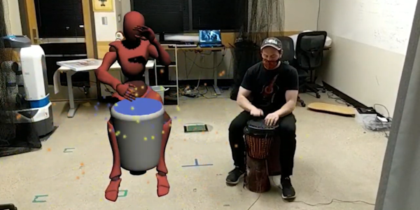 Image of an augmented reality drum circle