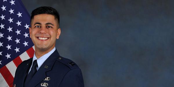 Joey Arora in his Air Force uniform