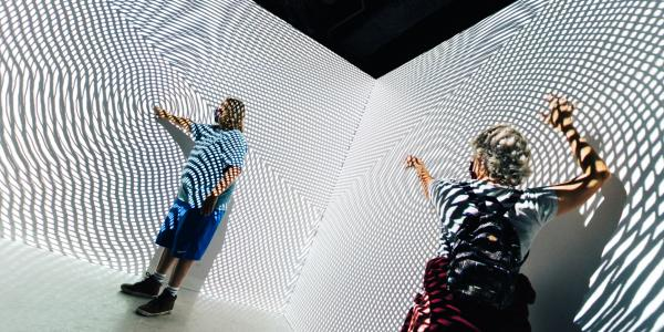 Moiré Room, amaudiovisual experience at Meow Wolf's Denver location built by artist and CU Boulder lecturer Justin Gitlin. (Photo provided)