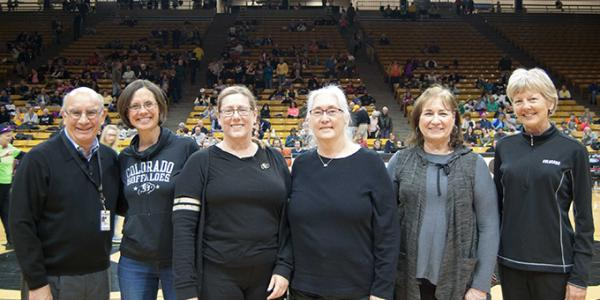 Boulder Campus Staff Council: Chancellor DiStefano, Claire Figel, Beth Kroger, Polly Pollard, Suzanne Stafford and Ceal Barry