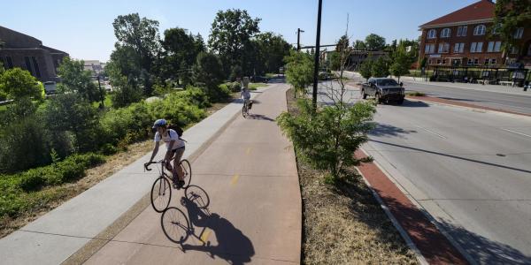 Campus community members bike to work