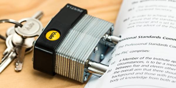 document with padlock