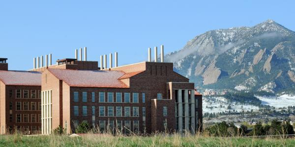 Biotechnology Building exterior with mountainscape