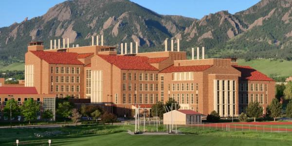 The Jennie Smoley Caruthers Biotechnology Building at the University of Colorado Boulder.