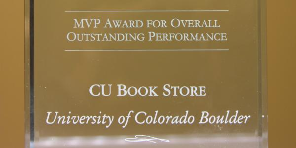 MVP Award for Overall Outstanding Performance: CU Book Store, University of Colorado Boulder