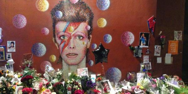 David Bowie memorial in Brixton