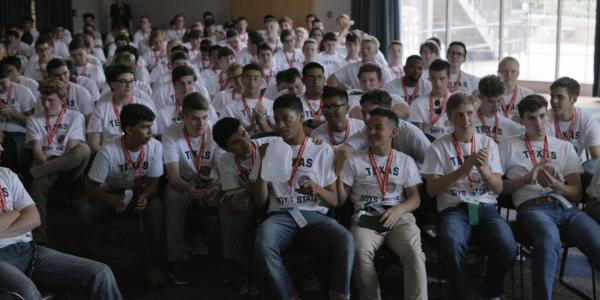 A scene from Boys State, the documentary