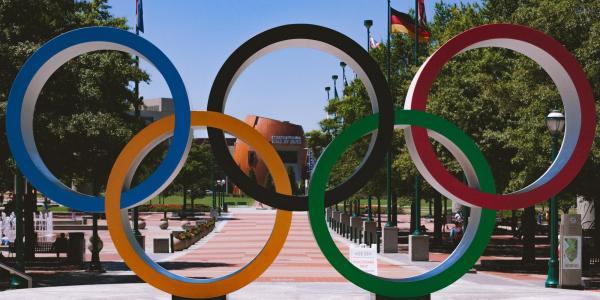 The Olympic rings (Image via Bryan Turner/Unsplash)