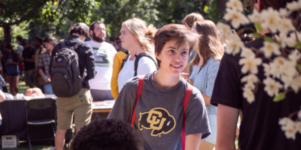 Transfer student at a CU event