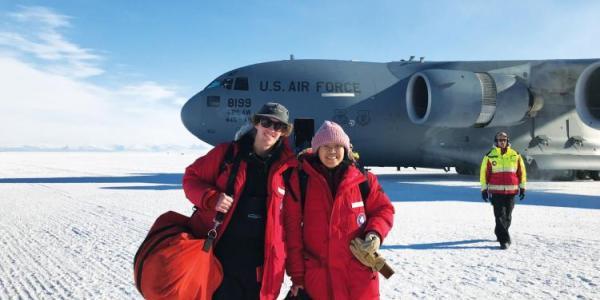 Ian Geraghty and Xinzhao Chu in Antarctica