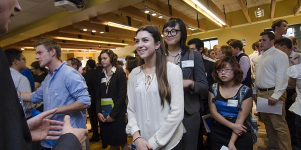 Students meet employers at 2015 career fair